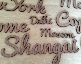 Words of larger sizes for your table names or decorating your walls. .. .in wood