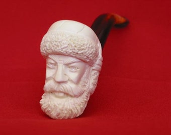 Turkish handcarved   Father Christmas  model meerschaum pipe from Turkey FREE SHIPPING WORLDWIDE