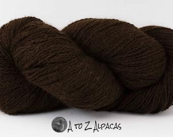 SUPER-SIZED SKEIN! Royal Baby Alpaca Yarn Sport Weight Natural Dark Brown 200 gram skein