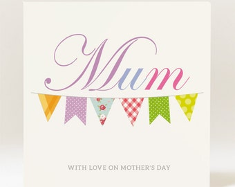 Handmade Mother's Day MUM Card - 145mm Square Card