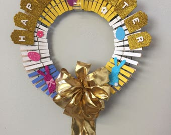 Small Easter Wreath with Gold Bow