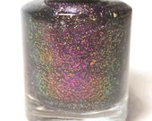 pink purple blue gold nail polish color shifting flakie glitter 5 free handmade nail polish indie nail polish vegan cruelty free