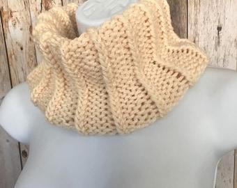 Cowl, Scarf, Hand Knit Scarf ,Infinity scarf, Knit cowl, scarflette, neckwarmer, Womens Scarf,Ready to Ship