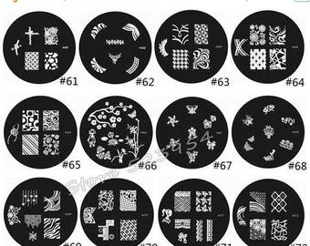 nail stamping plate series M-61 to M-92  Nail Art