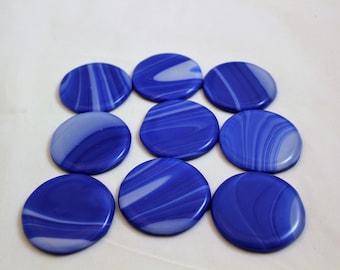Blue Glass Knob, Fused Glass Drawer Pulls, Dresser Pulls, Blue Knobs, Glass Knobs, Cabinet Drawer Pulls, Closet Door Pull,