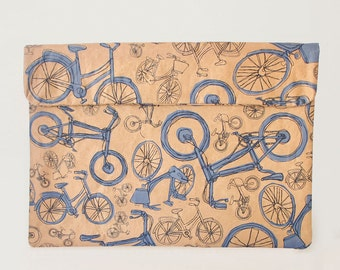Blue Bicycles Laptop Paper Sleeve