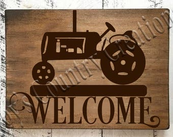 Welcome Tractor   SVG, PNG, JPEG