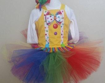 Clown Costume, Circus Costume, Circus Birthday Outfit, Clown Birthday Outfit, Halloween Costume, Size 6 month - size 6