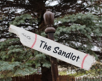 The Sandlot Distressed Wooden Directional Sign