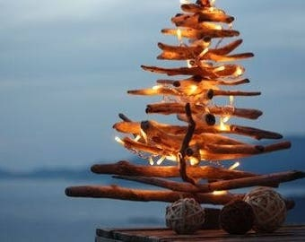 Drift wood for indoor or outdoor Christmas tree...