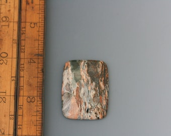 Mystery Cabochon. Stone cab. 68 carat cab. Natural rectangle stone cabochon. Beadwork, Jewelry making, Jewelry supply. Metal work.