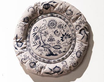 Fabric Blue Onion Plate