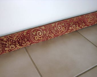 Upholstery Paisley Chenille Draft Door Blockers Door Draft Stopper Paisley Chenille Window or Door Draft Snake