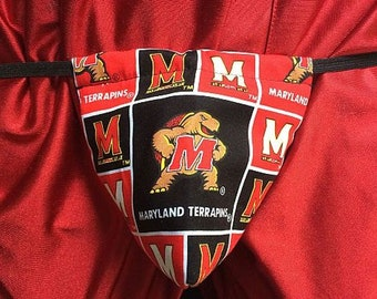 New Men's UNIVERSITY OF MARYLAND College Gift Gstring Thong Male Lingerie Underwear