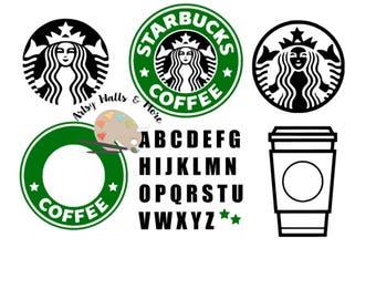 Starbucks Coffee svg file, Starbucks coffee CUT file, SVG png jpg file, Custom starbucks logo svg for Silhouette Cameo or Cricut DIY