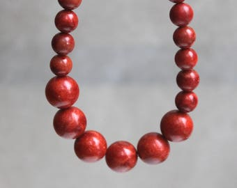 Red Apple Coral Necklace