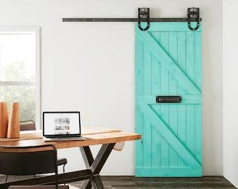 Custom Built Rustic Double Z Sliding Barn Farm Door & Chevron 2 Panel Light Sliding Barn Farm Door