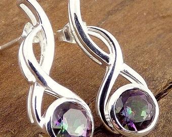 Mystic QUARTZ jewelry, earrings Stud Earrings, Mystic quartz, mystic quartz jewels, gh41