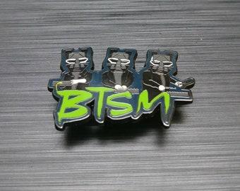 Black Tiger Sex Machine Enamel Lapel Pin - Hat Pin