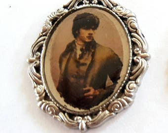Victorian Steampunk Sam Winchester Faux Tintype Pendant
