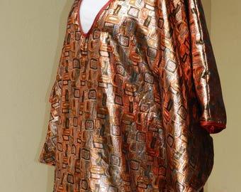 Lamé tunic pattern gustav klimt