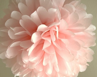 Light Pink Tissue Pom Pom .. Wedding Decoration / Bridal Shower