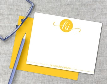 Personalized Stationery / Personalized Stationary Set / Custom Monogram Stationary / Personalized Thank You Card / Flat Note Cards