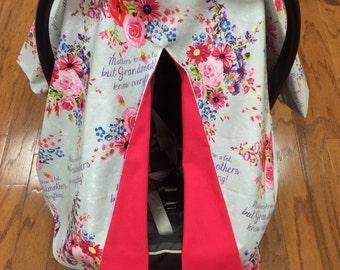 Grandmothers Know Everything Car Seat Canopy