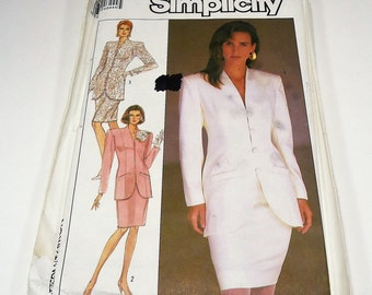 Simplicity Misses' Semi-Fitted Suit With Lined Jacket Pattern 8433 Size 18 & 20