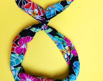 Hawaiian Floral Wire Headband by Byrd