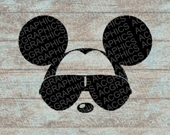 Sunglasses Mickey SVG, DXF, JPEG, and Studio Downloads