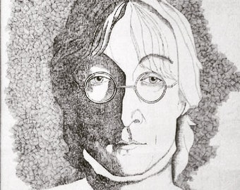 John Lennon Pen and Ink drawing