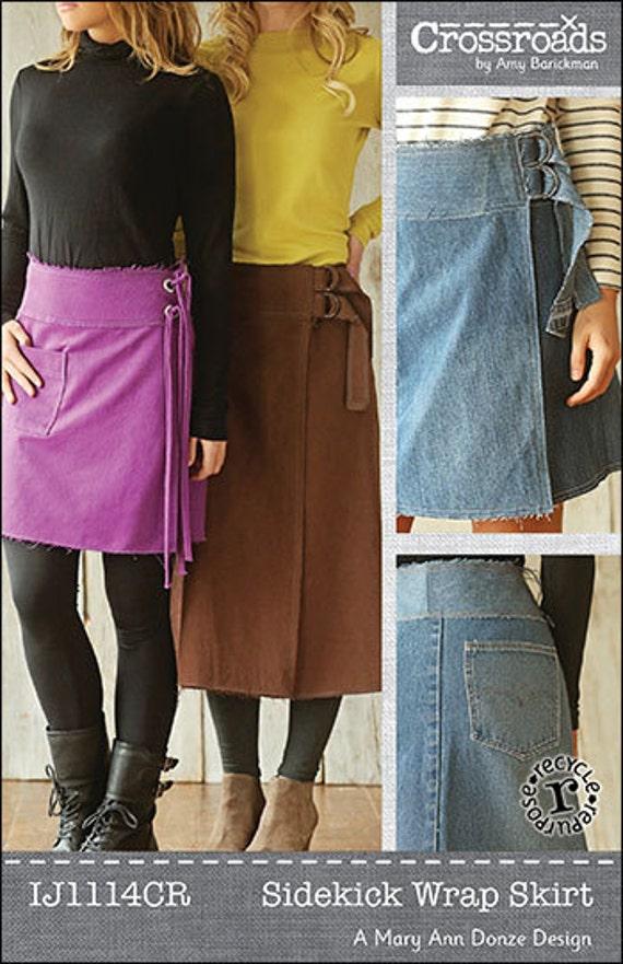 Sidekick Wrap Skirt Digital Sewing Pattern PDF - Easy to make wrap ...