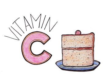 Vitamin C(ake) Print