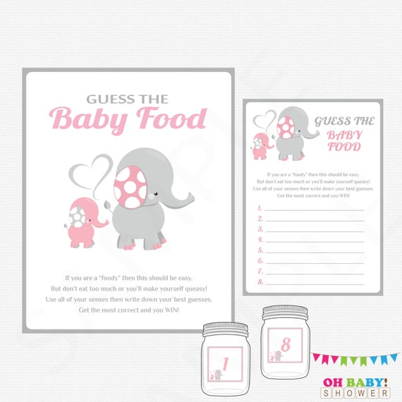 Elephant baby shower guess the baby food baby shower games solutioingenieria Gallery