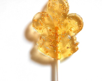 10 CROWN ROYAL LOLLIPOPS, Whiskey Candy, Hard Candy, Gems,Fleur de Lis Favor, Gift Boxed, Tins, Personalized Favors, Wedding Favors