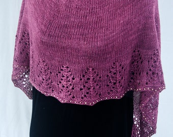 PDF Knitting Pattern - Yuletide Shawl