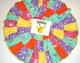 Pokemon Skirt for Girls Birthday Party Outfit Twirl Clothing Dress Pokemon clothing
