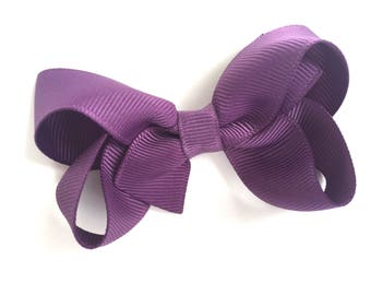Amethyst hair bow - hair bows, hair bow, bows, hair clips, hair bows for girls, baby bows, pigtail bows, toddler hair bows, girls hair bows