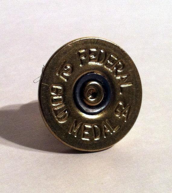 Lapel Pin Tie Tack Hat Pin 12 Gauge Federal Shot Gun Shell