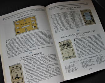 Vintage 1931 Teacher School Supply Catalog, Hall & McCreary, Book Illustrations, Sewing and Color Cards Illustrations