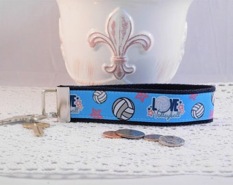 Volleyball Themed Keychain Wristlet