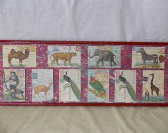 Vintage Style French Extoic Animals x 10