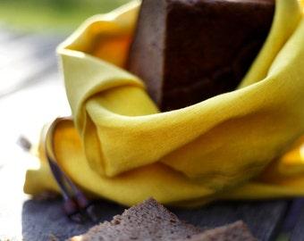 Bread bag yellow soft linen bag -  Reusable keeper - Bread bags - Natural linens