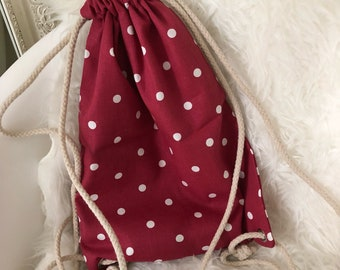 Hand made polka dots bag