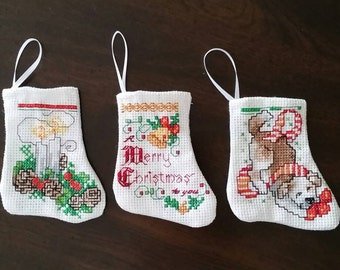 Mini Christmas Stockings Set of Three  ( Choice G )