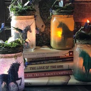 Unicorn Jar Night Light Lantern,Party Decoration,Table Decor, Child's Night Light,Unicorn Night Light,Enchanting Fairy Tale Decoration