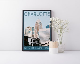 Print - Charlotte, NC - Skyline - Digital Art