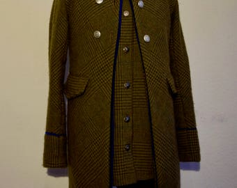 Wool coat with vest