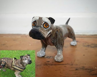 Personalized dog sculpture